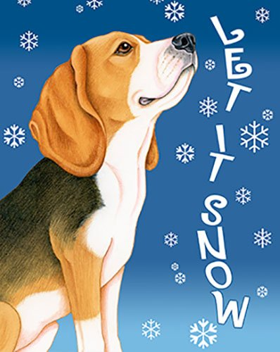 Beagle Flag (Beagle - Best of Breed Let It Snow Garden Flag)