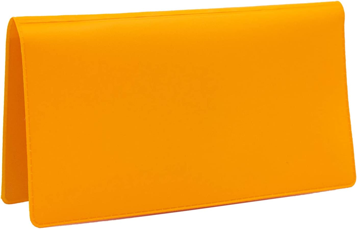 Sunburst Orange Vinyl Checkbook Cover, Top Tear Personal Vinyl Checkbook Cover