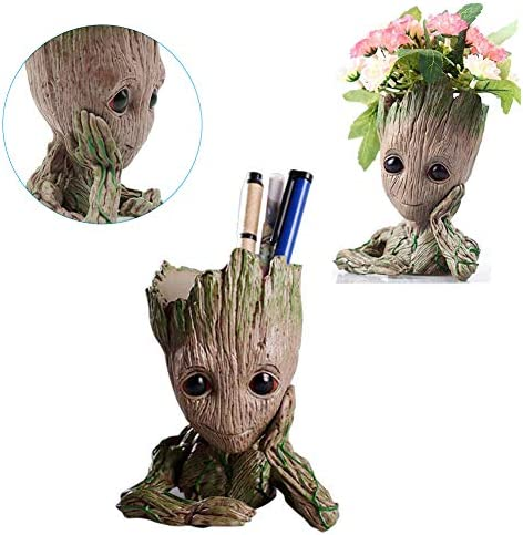 Treeman Baby Groot Flowerpot Flower Pot Planter – Action Figures Planter Pot Flowerpot Toy Pen Cute Tree Man Model Desk Ornament Gift Toy Christmas Garden Flower Gifts for Kids