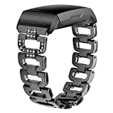 Metal Bands for Fitbit Charge 3, Quick Release Bracelet Accessories Straps Wristband Compatible with Fitbit Charge 3/SE Smart Watch