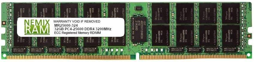 32GB DDR4-3200 PC4-25600 RDIMM Memory for Supermicro H11DSi-NT AMD EPYC by Nemix Ram