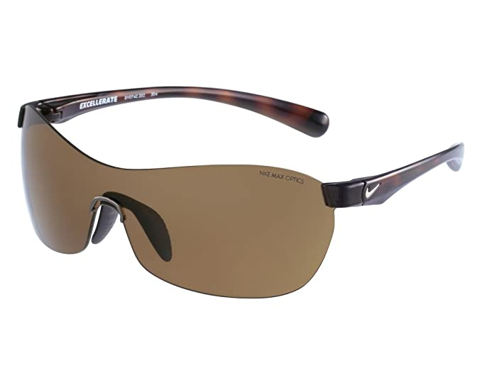09710fac62b Amazon.com  Nike Excellerate EV0742 202 Tortoise Brown Sport Sunglasses  Bundle-2 Items  Clothing