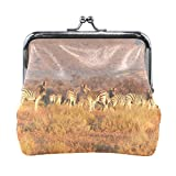 Ethel Ernest Zebras In Africa Coin Wallets Mini Purse for Womens Girls
