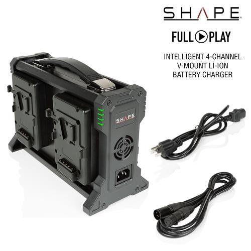 Shape Full Play 100-240V Intelligent Charger for 4-Channel V-Mount Lithium-Ion Battery by Shape (Image #1)