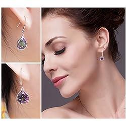 Copter Shop Drinking Water 6.8ct Mystic Light Rainbow T Opaz Sterling Silver Earrings 925 Sterling Silver New Fine Jewelry For Women