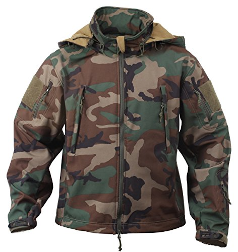Rothco Special Ops Tactical Soft Shell Jacket, Woodland Camo, M