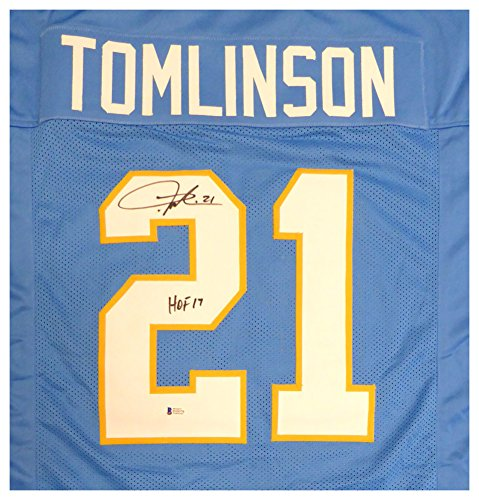 San Diego Chargers LaDainian Tomlinson Autographed Signed Powder Blue Jersey HOF 17 - Beckett Authentic ()
