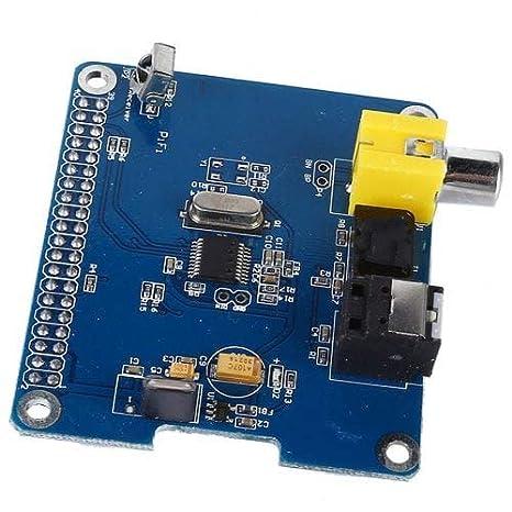 ExcLent HiFi Digi + Tarjeta De Sonido Digital I2S Spdif Fibra Óptica para Raspberry Pi 2 Modelo B/B +/A +-Azul: Amazon.es: Electrónica