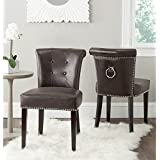Safavieh Mercer Collection Sinclair Antique Brown Leather Ring Dining Chair Set Of 2