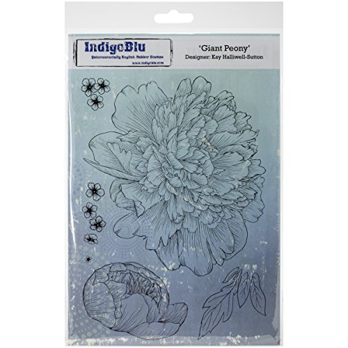 IndigoBlu Cling Mounted Stamp, Giant Peony (Peony Stamp Rubber)