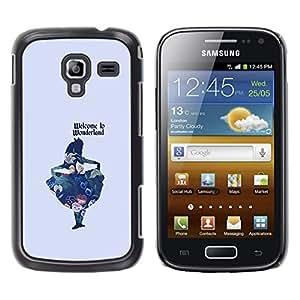 For Samsung Galaxy Ace 2 I8160 / Ace2 II XS7560M Case , Fairytale Minimalist Text Kids Child - Diseño Patrón Teléfono Caso Cubierta Case Bumper Duro Protección Case Cover Funda