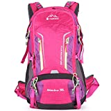 Aoking Large 50L Hiking Backpack with Rain Cover Travel Lightweight Daypack Rucksack