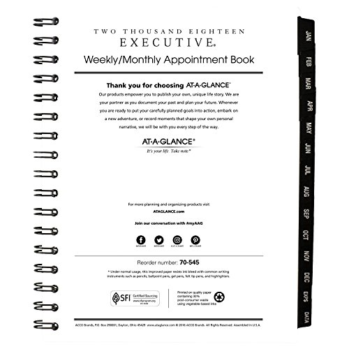 Monthly Appointment Book Refill, January 2018 - January 2019, 6-5/8