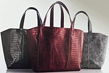 e0f3031ff Image Unavailable. Image not available for. Color: Neiman Marcus  Faux-Crocodile Tote Bag ...