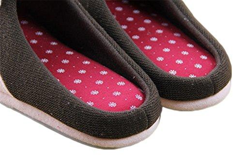 Auspicious beginning Ladies Deer House Slipper Indoor Shoes, Red, Green Red