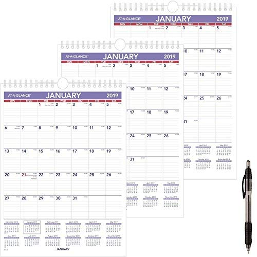 at-A-Glance PM128-18 Monthly Wall Calendar, January 2019 - December 2019, 8