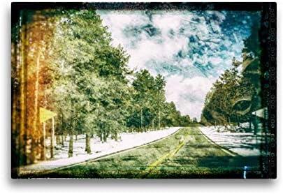 Calvendo Tela In Tessuto Di Alta Qualità, 45 Cm X 30 Cm Orizzontale, Route 66, Immagine Su Telaio, Su Vera Tela, Stampa Su Tela Orte