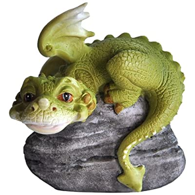 Top Collection Miniature Fairy Garden and Terrarium Hear No Evil Dragon Statue: Garden & Outdoor