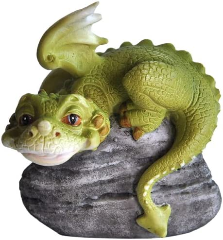 Top Collection Miniature Fairy Garden and Terrarium Hear No Evil Dragon Statue