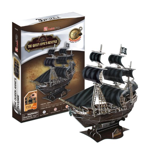 Queen Anne's Revenge, 155 Piece 3D Jigsaw Puzzle Made by Cub