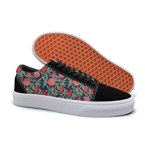 YCFTA A Lot Of Pomegranates Women Casual Sneakers Shoes Footwear Slip Print Comfortable