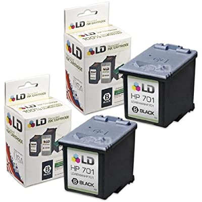 LD Remanufactured Replacement Ink Cartridges for Hewlett Packard CC635A (HP 701) Black (2 Pack) for use in the HP FAX 640, HP FAX 650, HP 2140 Fax Printers