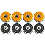 TORPSPORTS (Dia.58mm 2-1/4'' Shuffleboard Pucks, Matt Surface Set of 8 Orange/Black