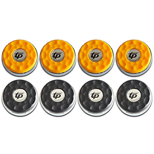 TORPSPORTS (Dia.58mm)2-1/4'' Shuffleboard Pucks, Matt surface Set of 8 Orange/Black (Shuffleboard Pucks)