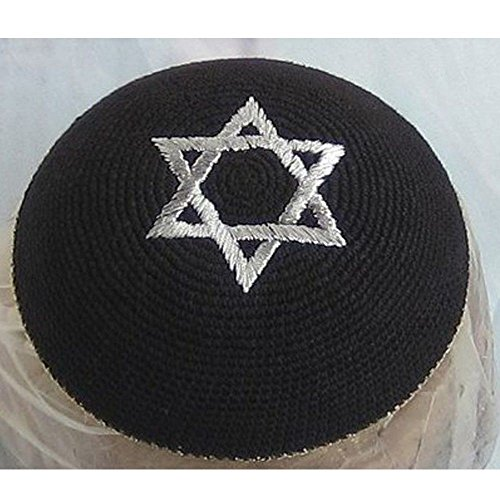 17CM 6.6Inch Jewish Kippah Yarmulke Yarmulka Hat Star Of David Cap Kippa for $<!--$3.95-->