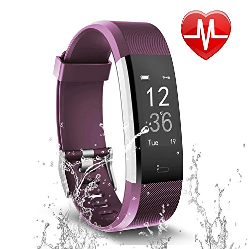 ker, Activity Tracker with Heart Rate Monitor and Sleep Monitor, Step Counter Pedometer Watch, IP67 Water Resistant Smart Bracelet for Kids Women and Men ()