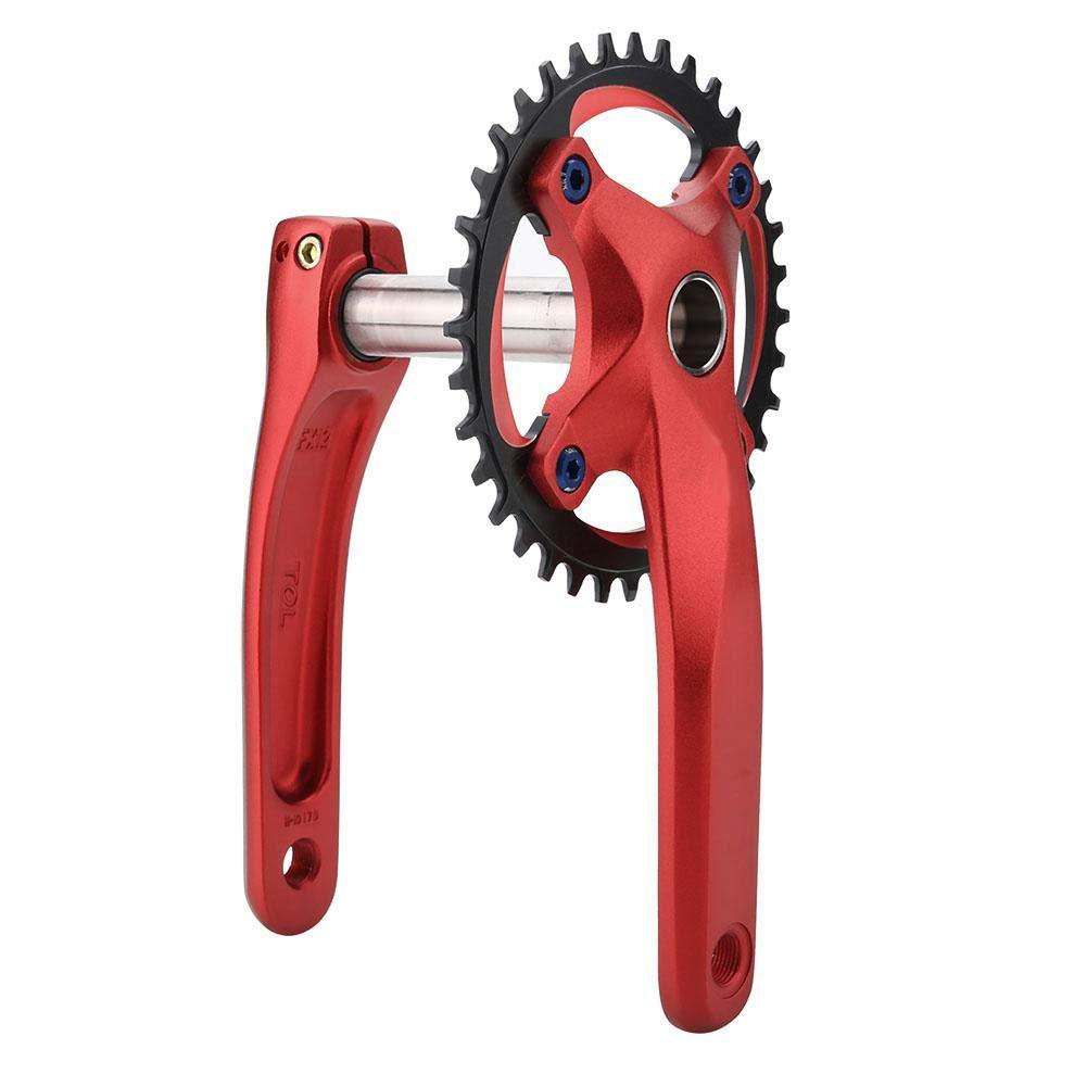 Mountain Bike Aluminum Alloy BCD 104 Crankset Integral Single Speed Crank Set Bottom Bracket Dioche Crankset