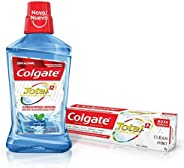 Enxaguante Bucal Colgate Total 12 Clean Mint 500ml Promo Grátis 1 Total 12 90g