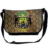 Lov6eoorheeb Unisex Coat Of Arms Of Gabon Wide Diagonal Shoulder Bag Adjustable Shoulder Tote Bag Single Shoulder Backpack For Work,School,Daily