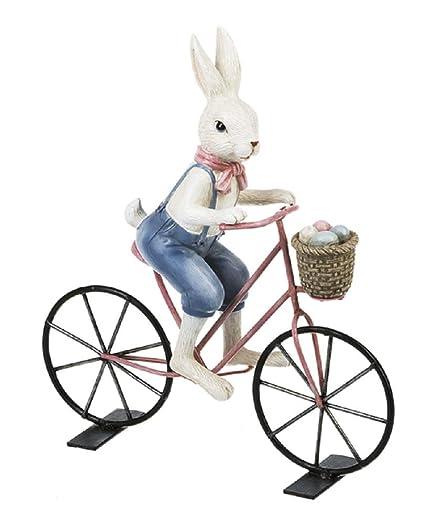 Amazon Com Ganz Bunny On Bicycle Figurine Home Kitchen