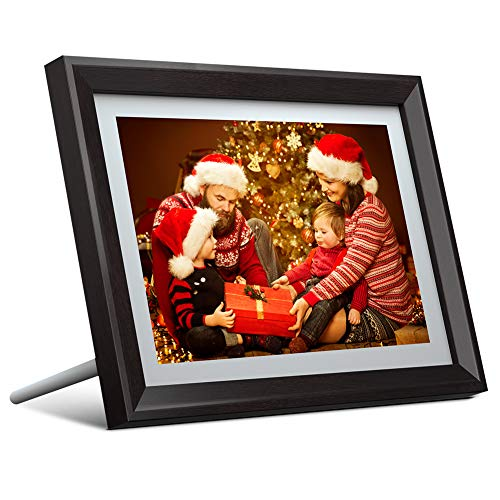 Dragon Touch 10 inch Wi-Fi Digital Picture Frame Classic 10, Touch Screen HD Display, 16GB Storage, Auto-Rotate, Share Photos with Friends via App, Email, Cloud (Wireless-frames)