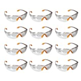 Safety Glasses -12 Piece Pack of Protective Glasses,Safety Goggles Eyewear Eyeglasses for Eye Protection with Clear Plastic Lenses and Featuring Rubber Nose And Ear Grips for a Comfortable Fit