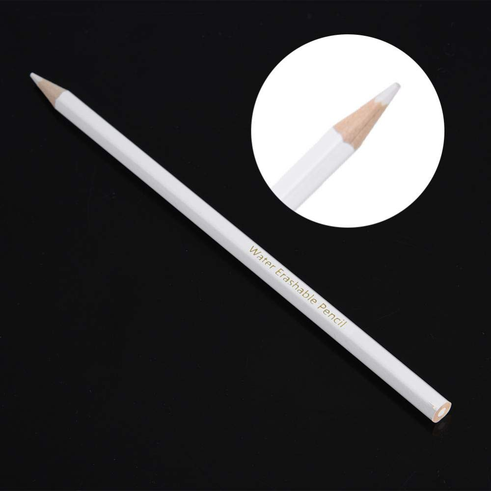 12 Pcs Tailors Pencil Water Soluble Pencil White Sewing Marking Pencil Dressmaker Practical Tool Wipe Off//Wash Out Dressmakers Fabric Marker Pencils for Sewing Dressmakers DIY Craft Markers Pens