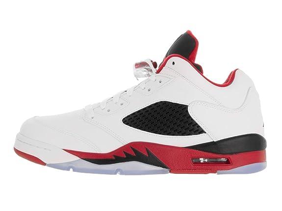 pretty nice 3b41b 32a84 Amazon.com   Air Jordan 5 Retro Low Men s Shoes White Fire Red Black 819171-101    Basketball