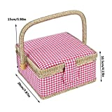 Craft Sewing Tool Needle Thread Basket Fabric Household Storage Box Bag