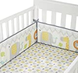 Cuddletime Globetrotter Crib Bumper, Gray