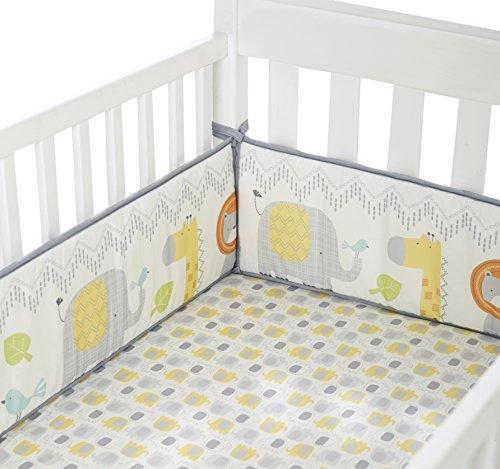 Cuddletime-Globetrotter-Crib-Bumper-Gray