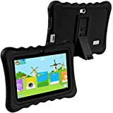 KOCASO [7 INCH] Quad Core [Android 4.4 KitKat] Kids HD Tablet PC- 8GB Storage W/ 32GB Expandable Memory, 1024x600, Dual Camera, WiFi/Bluetooth, Micro USB/SD Card Slot & FREE ACCESSORIES- Black
