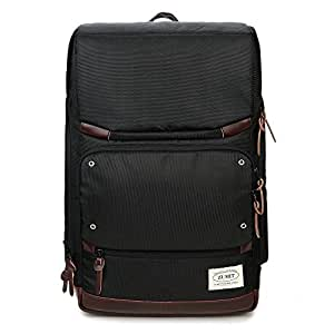 "ZUMIT Business Backpack Travel Lightweight Daypack School College Bag for 14"" Laptop Black #804"