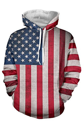 American Flag Hooded Sweatshirt - 7