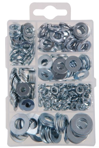 The Hillman Group 591521 Small Flat and Lock Washer Assortment, 270-Pack