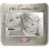 Malden International Designs Serendipity Shiny Pewter Metal with Jewels Grandma Picture Frame, 4-Inch by 6-Inch