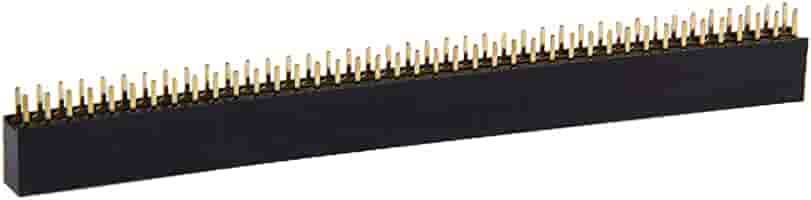 Huanglingkai Partes electronicas Hlk 100 PCS 2.0mm Pin 2x40 Doble Fila del Jefe del Pin Strip: Amazon.es: Electrónica