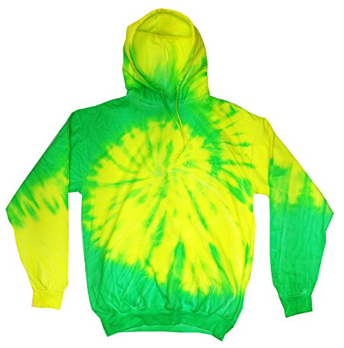 Colortone TD Hoodie 14-16(LG) Flo Yellow & Lime Adult Hooded Fleece Pullover