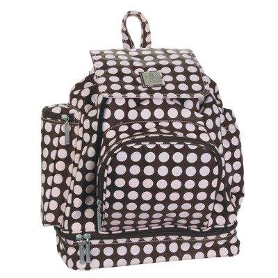 Kalencom Heavenly Dots Diaper Backpack Chocolate/Pink - Kalencom Heavenly Dots