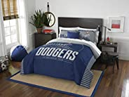 The Northwest Company MLB Los Angeles Dodgers Full Comforter and Sham Set, Full/Queen, Blue